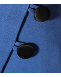 Robe en crêpe David Koma en coloris Blue