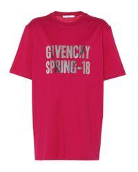 Givenchy Pink Bedrucktes T-Shirt aus Baumwolle