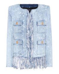 Balmain Blue Denim Jacket