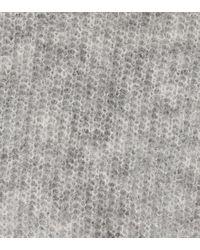 Pullover in mohair e lana con cappuccio di Ganni in Gray