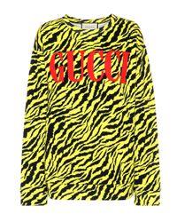 Pull en coton imprimé Gucci en coloris Multicolor