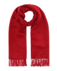 Max Mara Red Schal aus Kaschmir