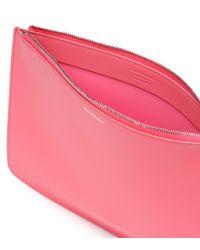 Clutch Malachite de piel Acne de color Pink