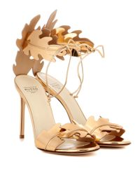 Francesco Russo - Metallic Leather Sandals - Lyst