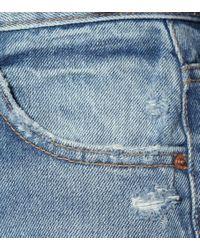 Jeans cropped The Linda a vita alta di GRLFRND in Blue