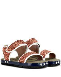 Marni Brown Sequin-embellished Sandals