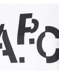 Camiseta Misaligned de algodón A.P.C. de color Multicolor