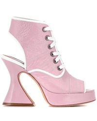 Sies Marjan - Pink Erin 110 Patent Leather Sandals - Lyst