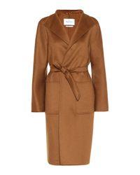 Max Mara Brown Lilia Double-face Cashmere Coat
