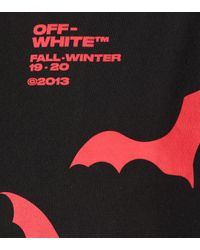 Off-White c/o Virgil Abloh Black Bat Printed Cotton T-shirt