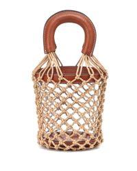 Staud Brown Bucket-Bag Moreau mit Leder