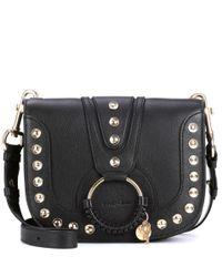See By Chloé Black Hana Medium Leather Shoulder Bag