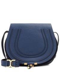 Chloé | Blue Marcie Leather Shoulder Bag | Lyst