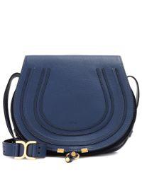 Chloé - Blue Marcie Leather Shoulder Bag - Lyst
