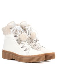 Tod's - White Leather Ankle Boots - Lyst