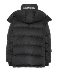 Balenciaga Black Gesteppte Jacke New Swing