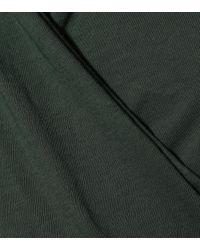 Velvet Green Top Meri aus Baumwoll-Jersey