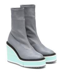 Clergerie Gray Ankle Boots Bliss aus Leder