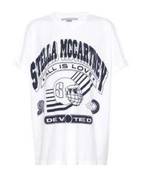 Stella McCartney White Logo Printed Cotton T-shirt