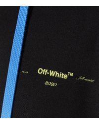 Off-White c/o Virgil Abloh Black Bedruckter Hoodie aus Baumwolle
