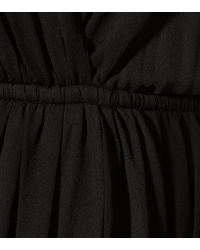Saint Laurent Black Minikleid aus Crêpe