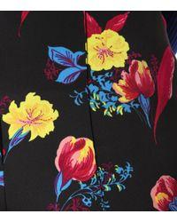 Diane von Furstenberg Blue High-Rise Hose mit Print