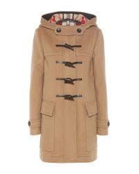 Burberry | Natural Baysbrooke Wool Duffle Coat | Lyst
