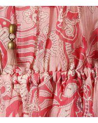 Zimmermann Pink Playsuit Castile aus Seidenchiffon