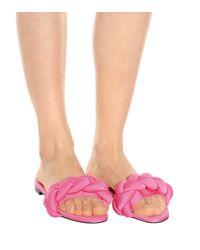 Zapatos slippers con puntera abierta Marco De Vincenzo de color Pink