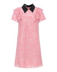 Miu Miu Pink Cotton-blend Lace Dress