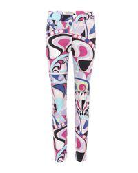 Emilio Pucci Multicolor Printed Skinny Jeans