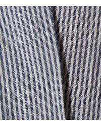 Three Graces London Blue Geraldine Cotton-blend Maxi Dress