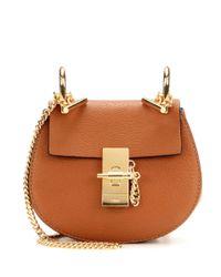 Chloé - Brown Nano Drew Leather Shoulder Bag - Lyst