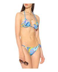 Bikini triangle imprimé Emilio Pucci en coloris Blue