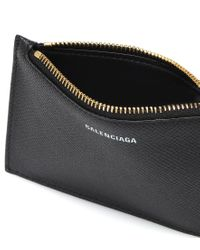 Portatessere Ville Long in pelle di Balenciaga in Black