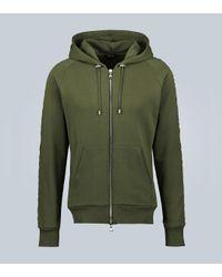 Balmain Sweatshirt aus Baumwolle in Green für Herren