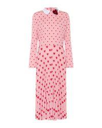 RED Valentino Pink Printed Midi Dress