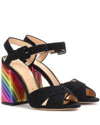 Sandales en daim Emma Charlotte Olympia en coloris Black