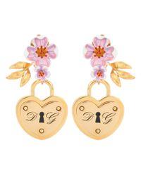 Dolce & Gabbana Metallic Locket Clip-on Earrings