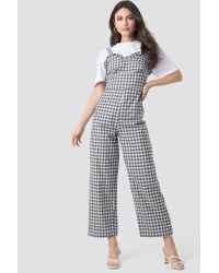 Trendyol Blue Checkered Jumpsuit