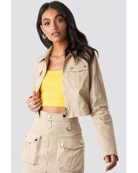 NA-KD Natural Hoss x Zipped Short Jacket