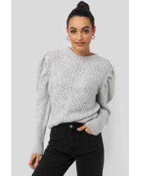 Mango Gray Mariposa Sweater