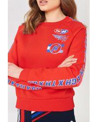 Tommy Hilfiger Red Gigi Hadid Team Ls Sweatshirt