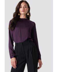 Maci Frill Neck Blouse Rut&Circle en coloris Purple