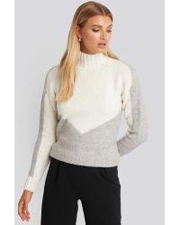 Trendyol Turtleneck Colorblock Sweater in het Multicolor