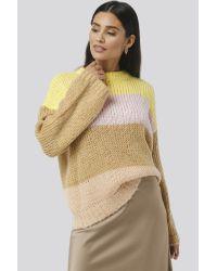 Round Neck Color Blocked Sweater NA-KD en coloris Multicolor