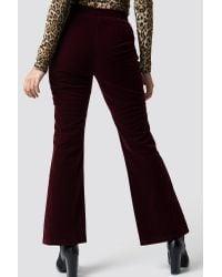 NA-KD Multicolor Party Velvet Trousers