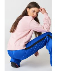 NA-KD - Basic Sweater Light Pink - Lyst