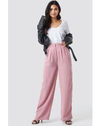 NA-KD Wide Pants Pink
