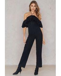 Sheln Black Sequin Detail Jumpsuit
